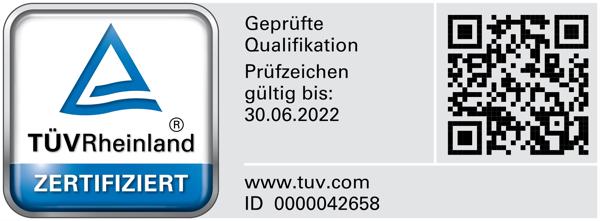 TÜV Logo - geprüfte Sachverständige